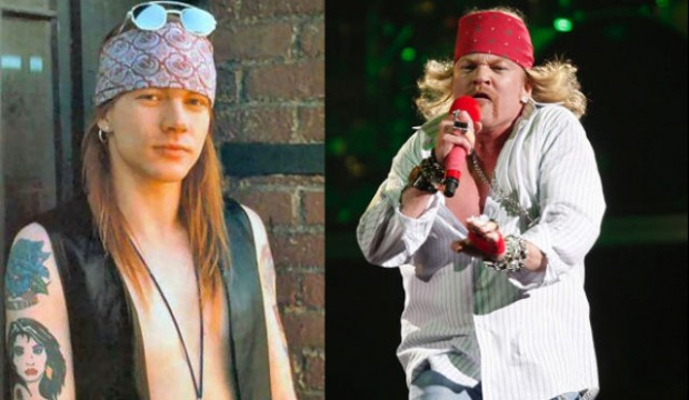 Axl in the 90's and in 2014