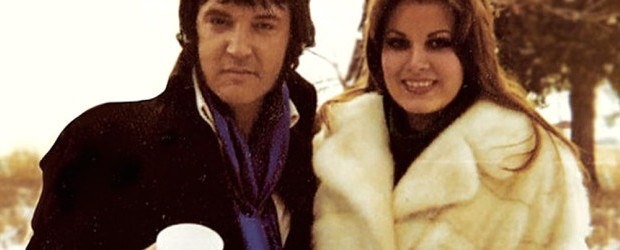 Elvis with his girlfriend Ginger Alden