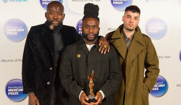 Young Fathers At The Award Ceremony