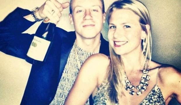 Macklemore and girlfriend