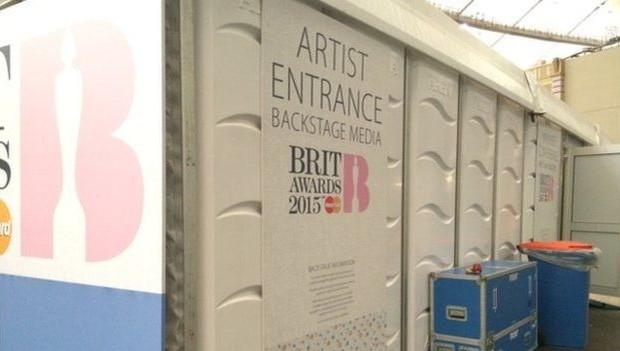 Singers Entrance at the Brits