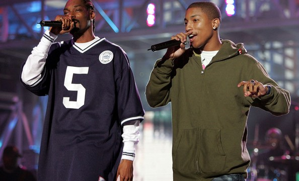 Best friends Pharrell Williams & Snoop Dogg