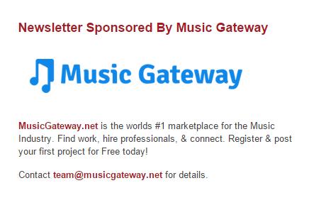 Sponsor a music newsletter