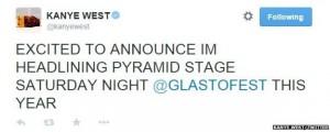Headliner for Glastonbury 2015