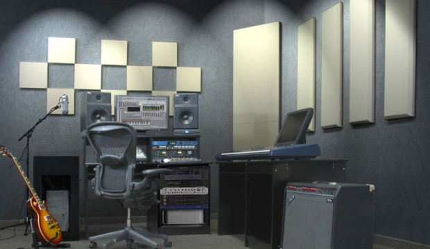 Sing in a recording studio