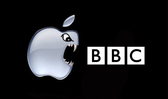 Apple bite back at the BBC