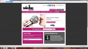 Singing teachers website