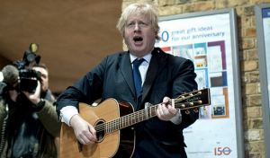 Boris Johnson plays with a capo doh
